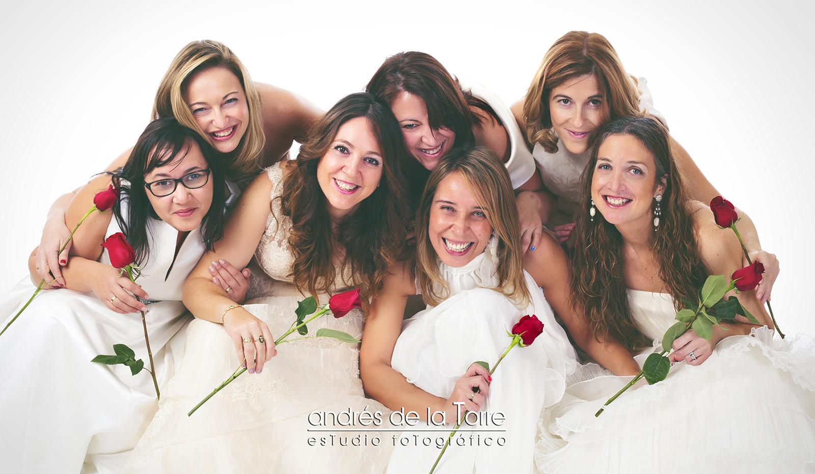 7 novias en Andrés de la Torre Estudio Fotográfico